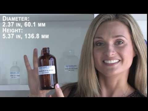 Glass Bottle 8 Oz Amber