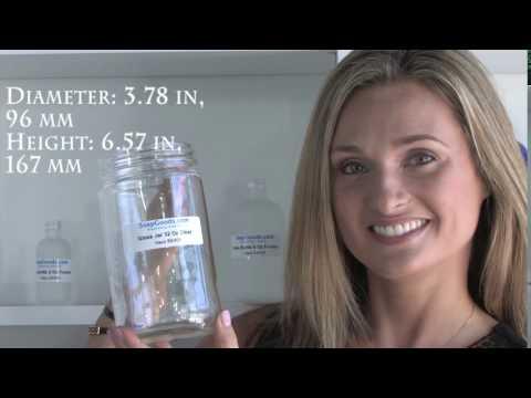 Glass Jar 32 Oz Clear