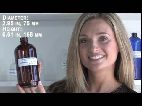 Glass Bottle 16 Oz Amber