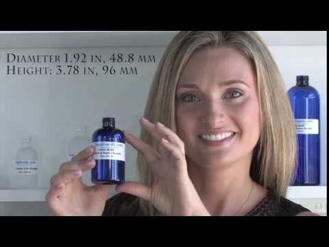 Plastic Bottle 4 Oz Blue Boston Rounds