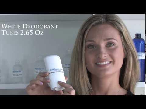 White Deodorant Tubes 2.65 Oz