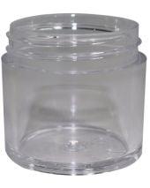 Plastic Jar 1 Oz Clear Wide
