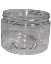 Plastic Jar 12 Oz Clear Round