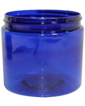 Plastic Jar 16 Oz Blue Round