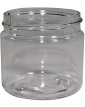 Plastic Jar 2 Oz Clear Round Tall