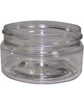 Plastic Jar 2 Oz Clear Round Wide