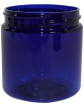 Plastic Jar 4 Oz Blue Round Tall