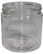 Plastic Jar 4 Oz Clear Round Tall