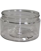 Plastic Jar 4 Oz Clear Round Wide