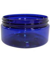 Plastic Jar 8 Oz Blue Round Wide