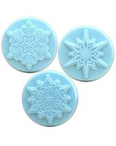 Nature 3 Snowflakes Soap Mold
