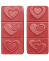 Nature Breakaway Hearts Soap Mold