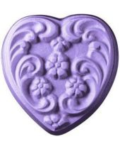 Nature Floral Heart Soap Mold