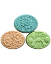 Nature Floral Ovals Soap Mold