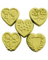 Nature Guest 5 Hearts Soap Mold