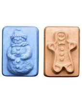 Nature Guest Snowman Gingerbreadman Soap Mold