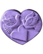 Nature Heart With Doves Soap Mold