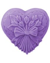 Nature Heart with Tulips Soap Mold