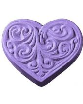 Nature Victorian Heart Soap Mold