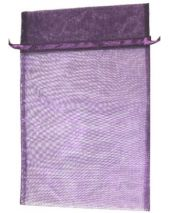 Organza Bag - Purple 8 x 12
