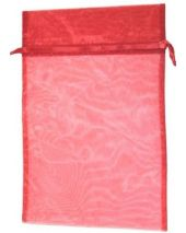 Organza Bag - Red 8 x 12