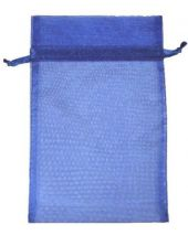 Organza Bag - Royal Blue 5 x 8
