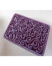 Stylized Curly Q Bar Soap Mold
