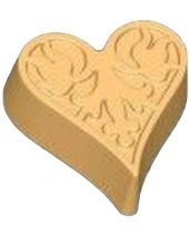 Stylized Floral Impression Heart Soap Mold