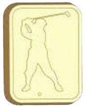 Stylized Golfer Soap Mold