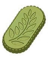 Stylized Grape Fern Leaf wBorder Soap Mold