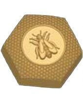 Stylized Honeybee Soap Mold