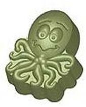 Stylized Ollie Octopus Soap Mold