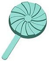 Stylized Pinwheel with Pop Stick Soap Mold
