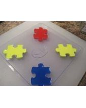 Stylized Puzzle Piece Soap Mold