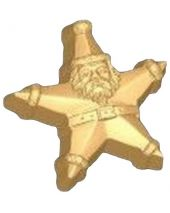 Stylized Star Santa Soap Mold