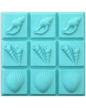 Tray 3 Shells Soap Mold