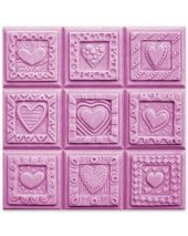 Tray Crazy Hearts Soap Mold