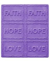 Tray Faith Hope Love Soap Mold