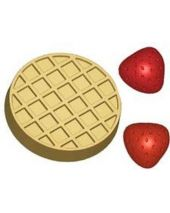 Stylized Waffle and Strawberries Soap Mold