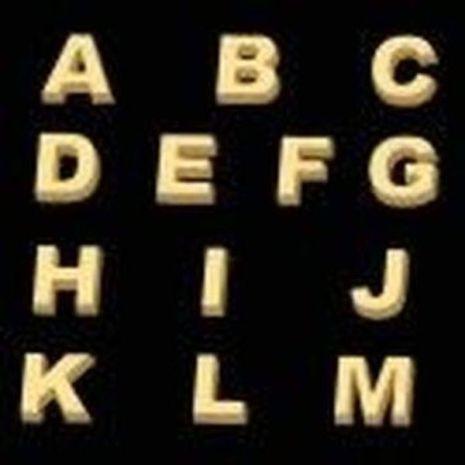 Stylized Alphabet A M Soap Mold