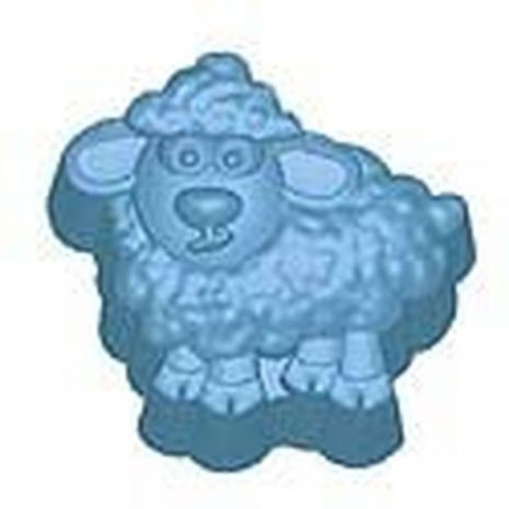 Stylized Baa Baa Sheep Soap Mold