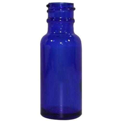 Glass Bottle 1 Oz Blue