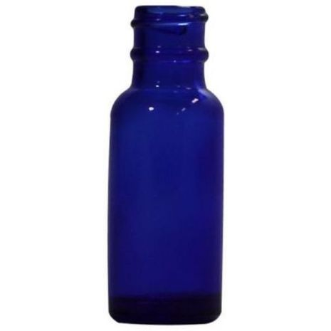 Glass Bottle 1/2 Oz Blue