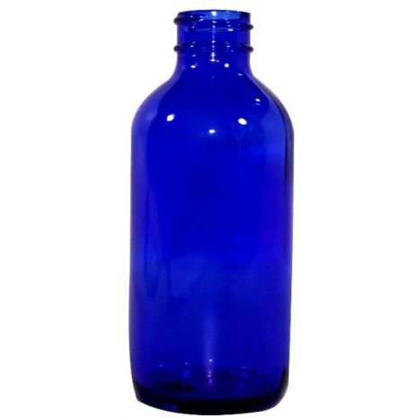 Glass Bottle 4 Oz Blue