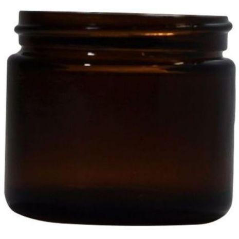 Glass Jar 2 Oz Amber