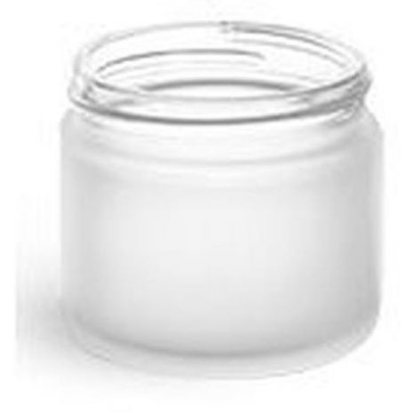 Glass Jar 2 Oz Frosted