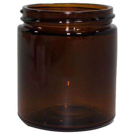 Glass Jar 4 Oz Amber