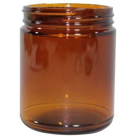 Glass Jar 8 Oz Amber
