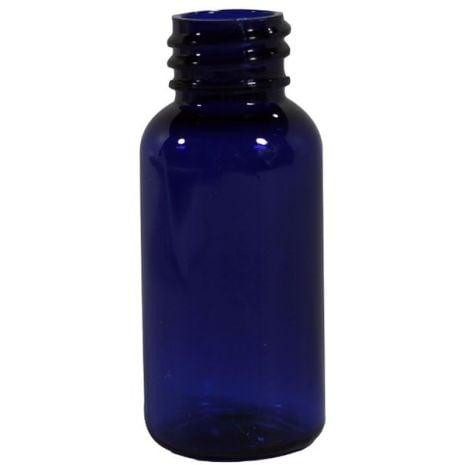 Plastic Bottle 1 Oz Blue Boston Rounds