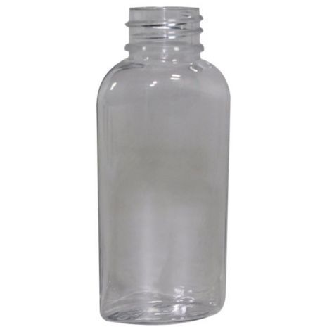 Plastic Bottle 1 Oz Clear Cosmo Oval